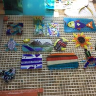 Fused Glass Wall Hangings