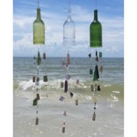 Mosaic Bead and Bottle Wind Chimes